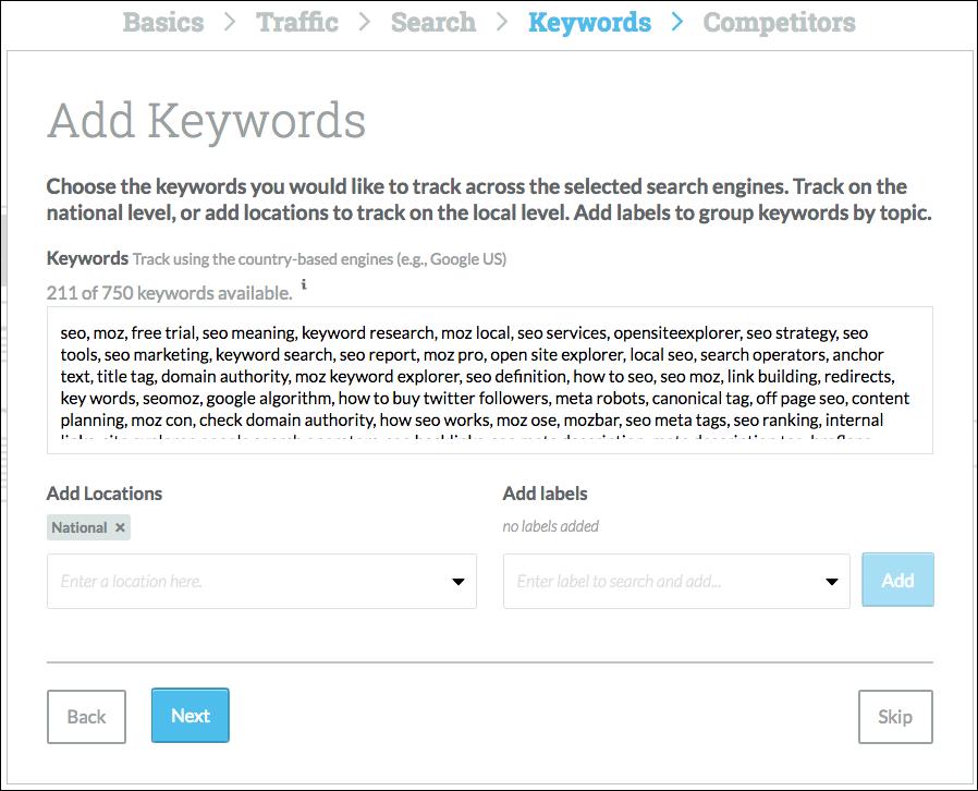 enter your keywords