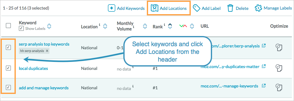 add from existing keywords