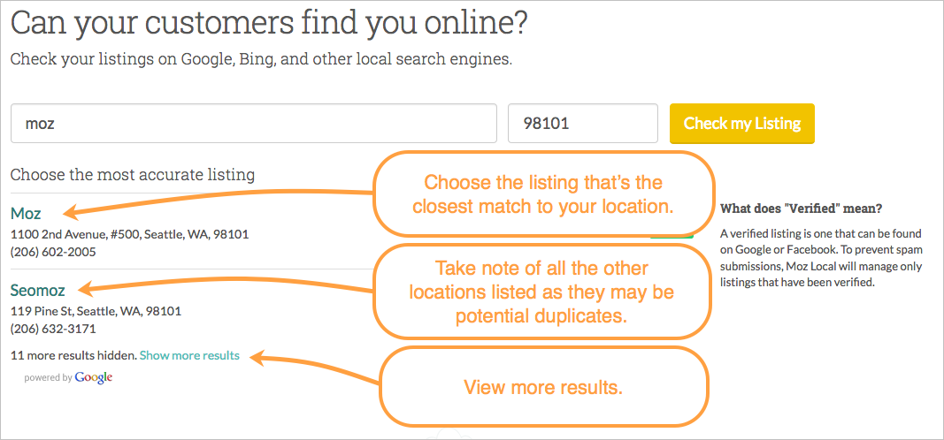 check listing search