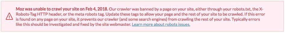 crawler banned notice