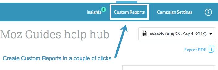 Moz Pro custom reports
