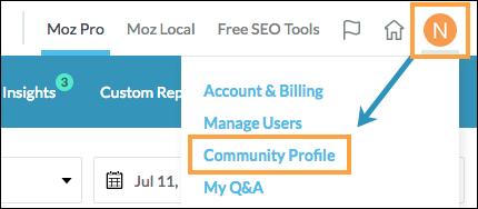 edit community profile