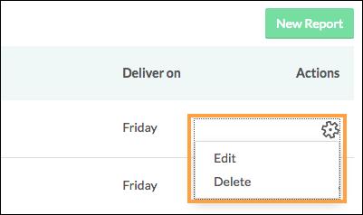 edit or delete local report