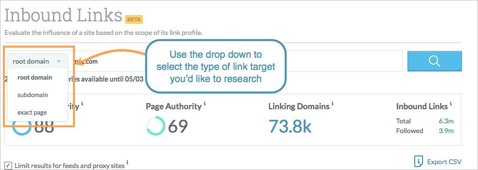 link target