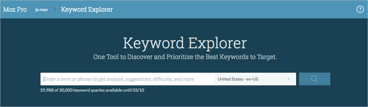 global keyword explorer