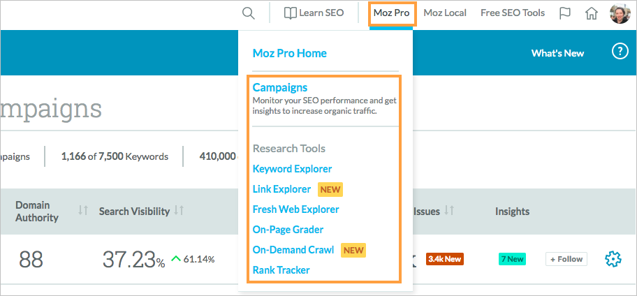guide to the rank tracker research tool moz help hub