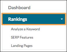 rankings menu