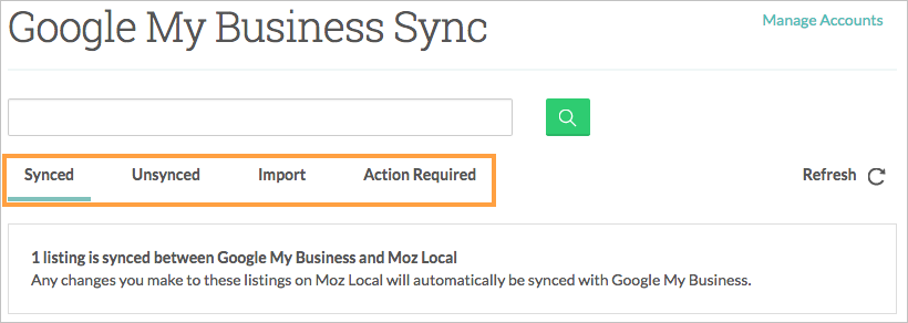 connect gmb synced