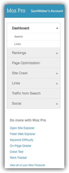 Side nav in Moz
