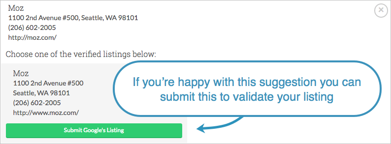 validation submit