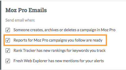 campaigns you follow