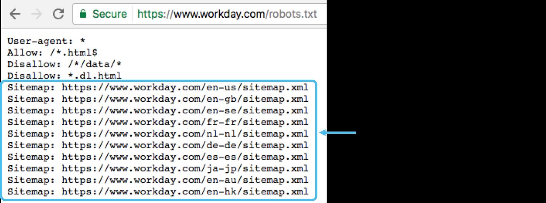 Sitemaps in robots.txt